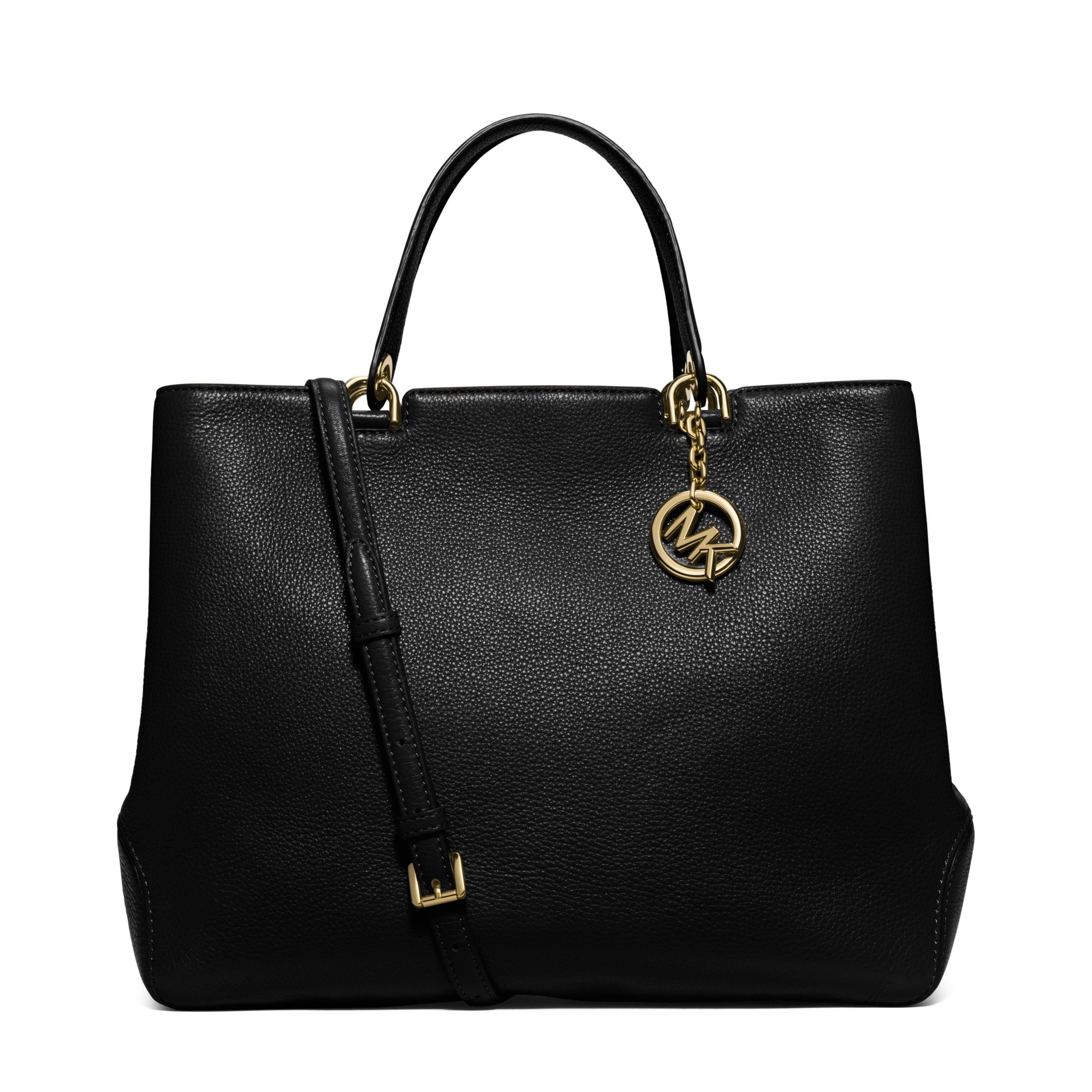407a2bda78c3 Michael Kors Anabelle Extra-large Leather Tote in Black - Lyst
