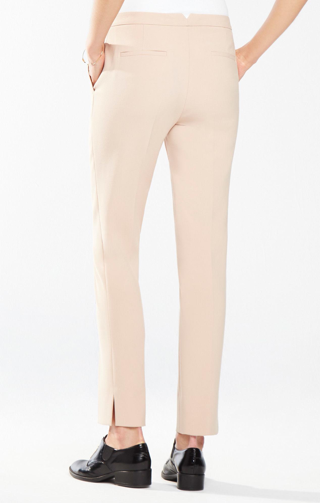 BCBGMAXAZRIA Womens Slim Leg Trouser