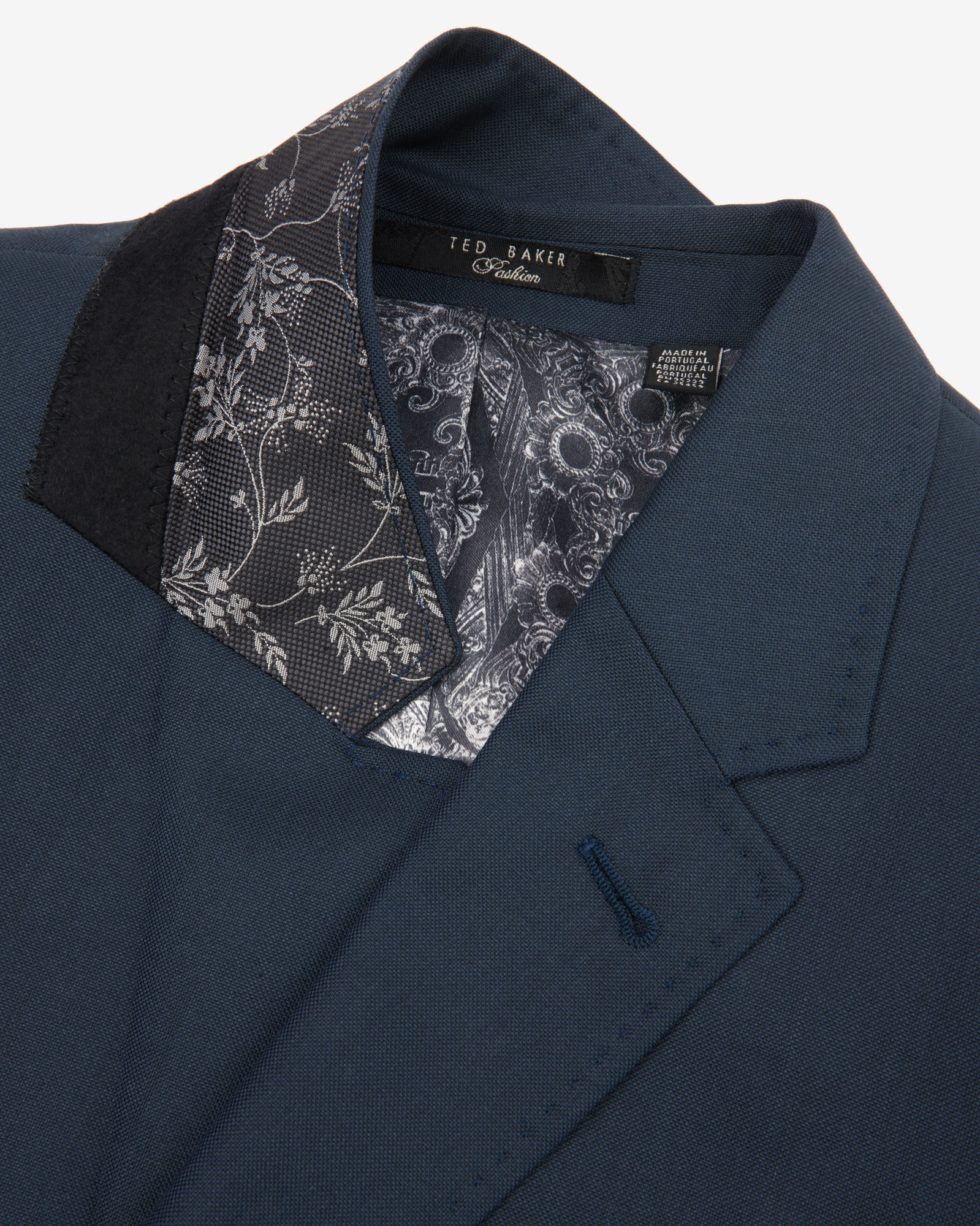 Ted Baker Wool And Silk-blend Jacket in Dark Green (Green) for Men