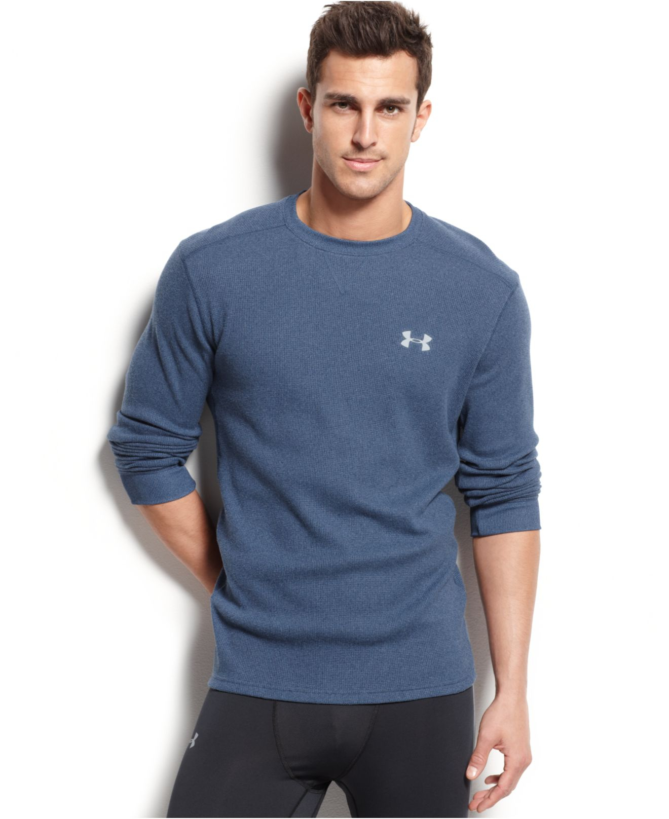 Under armour men 39 s amplify long sleeve thermal t shirt in Thermal t shirt long sleeve