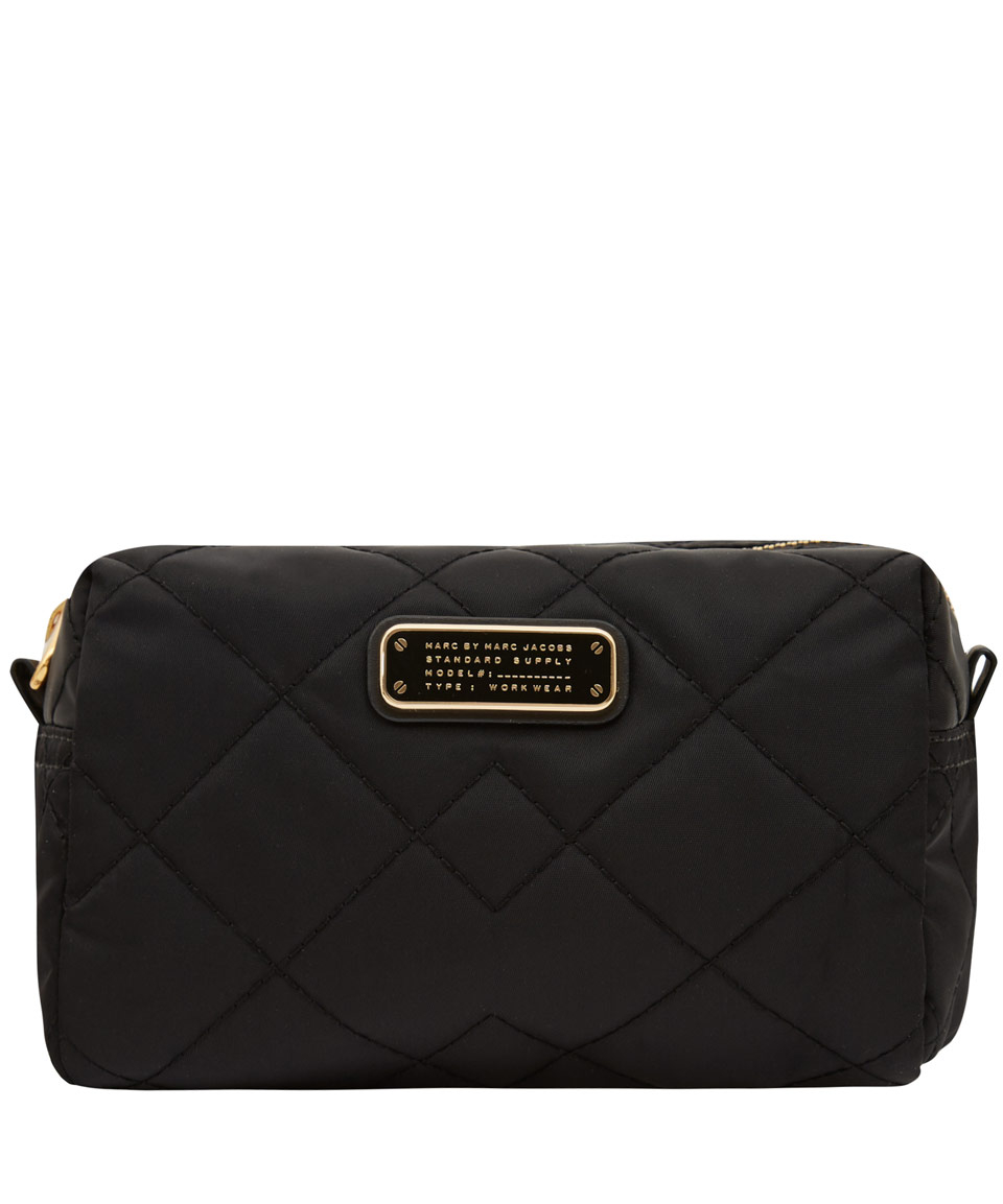 bdb31d3de175 Marc By Marc Jacobs Large Black Crosby Quilted Cosmetic Bag in Black ...