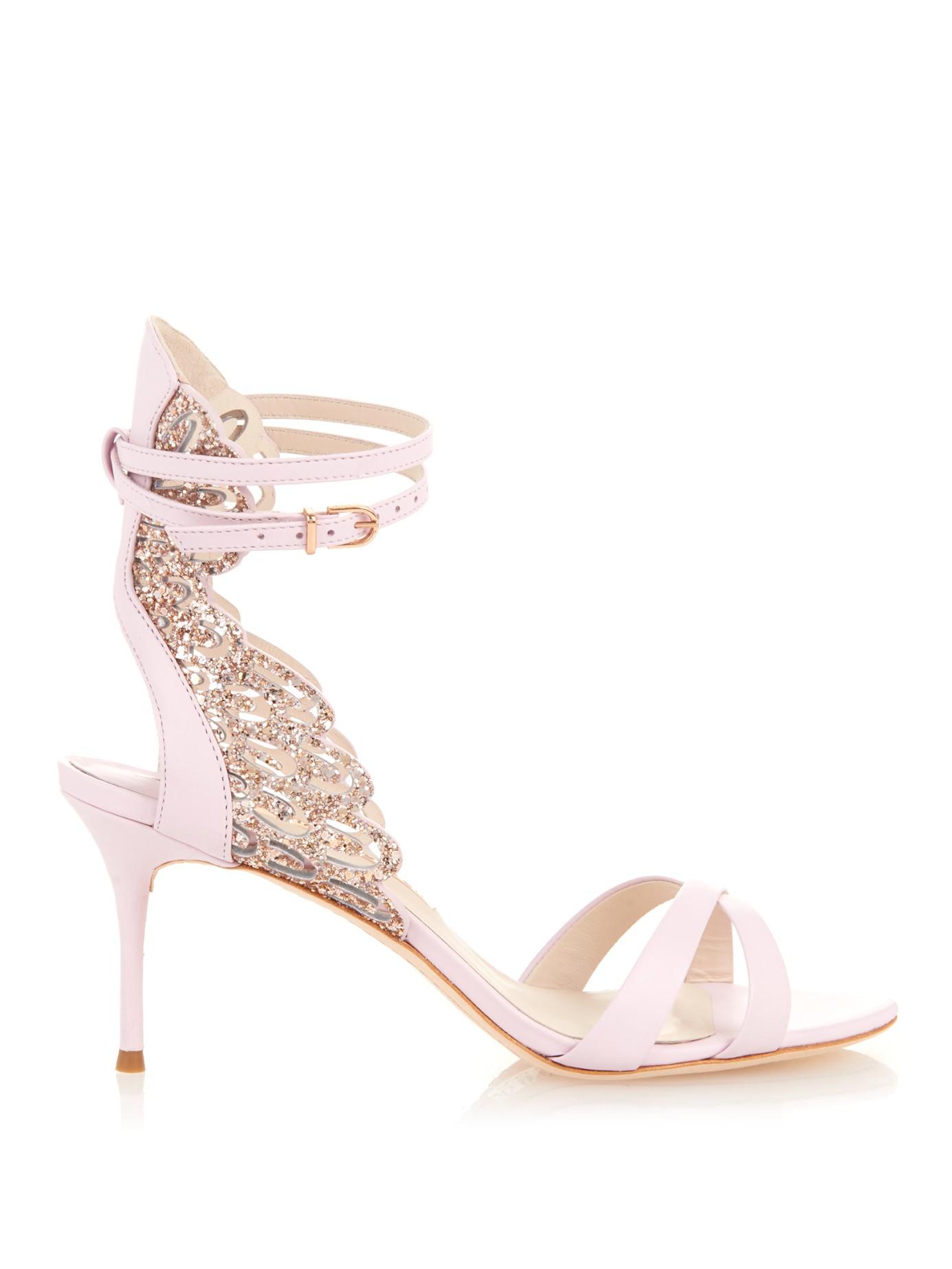 Light Pink Strappy Heels - Is Heel