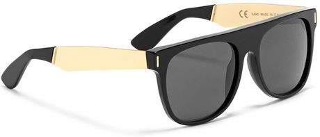 0a2ab5e0c588 Super Sunglasses By Retrosuperfuture Flat Top Wayfarers Black/gold ...