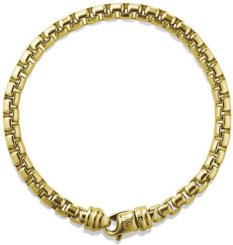 David Yurman Extra Large Box Chain Bracelet In Gold In