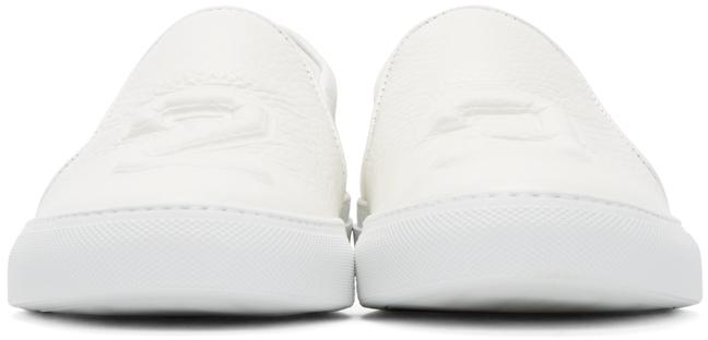 Joshua Sanders 23 Grained Leather Slip-On Sneakers in White