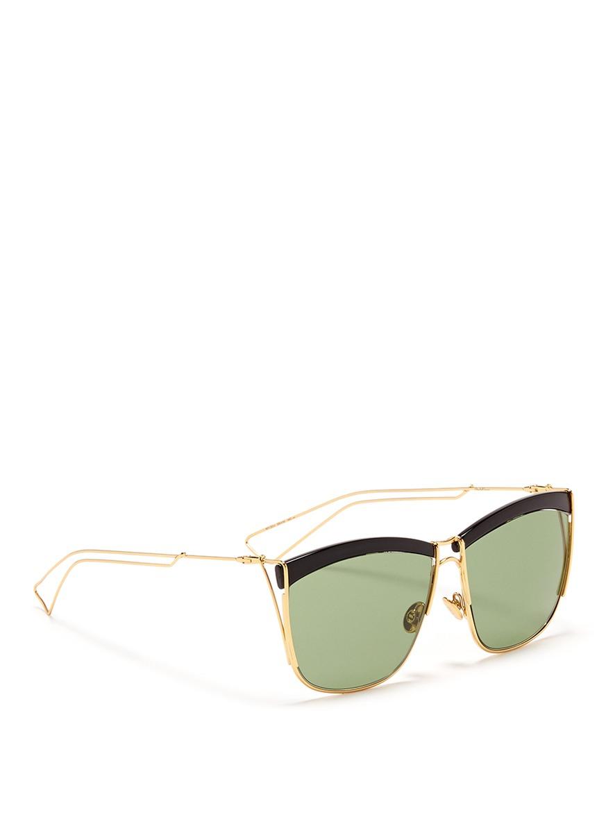 Black Wire Frame Glasses : Dior So Electric Square Wire Frame Sunglasses in Black ...