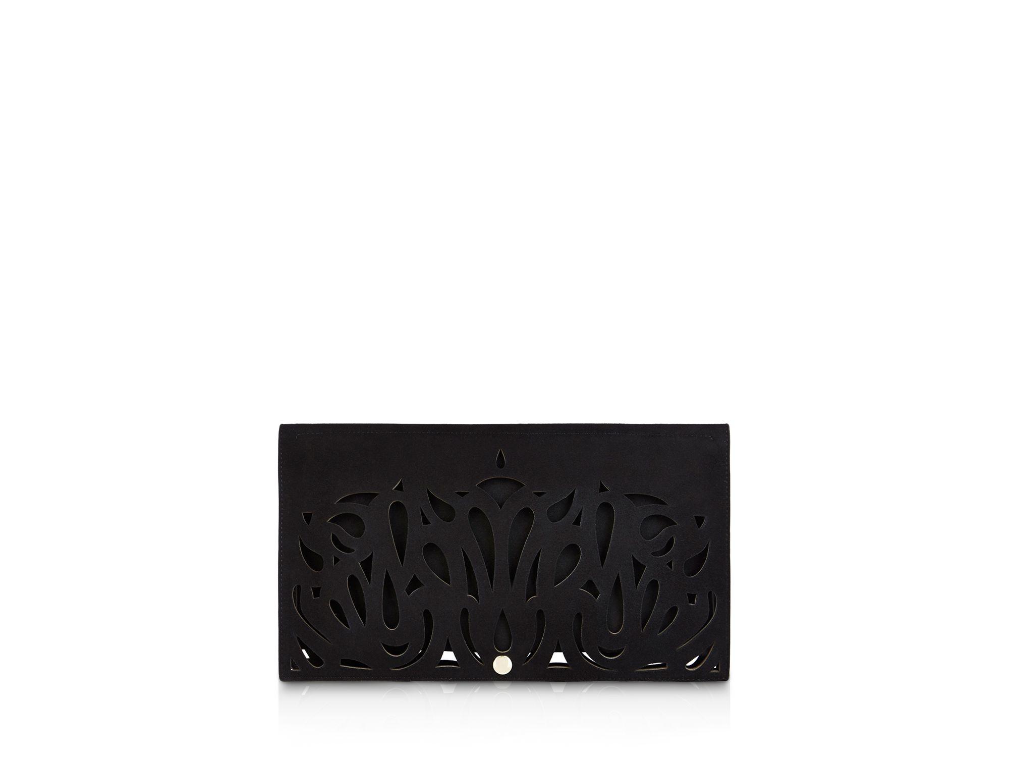 7ae6b09161a Karen Millen Cutout Clutch in Black - Lyst