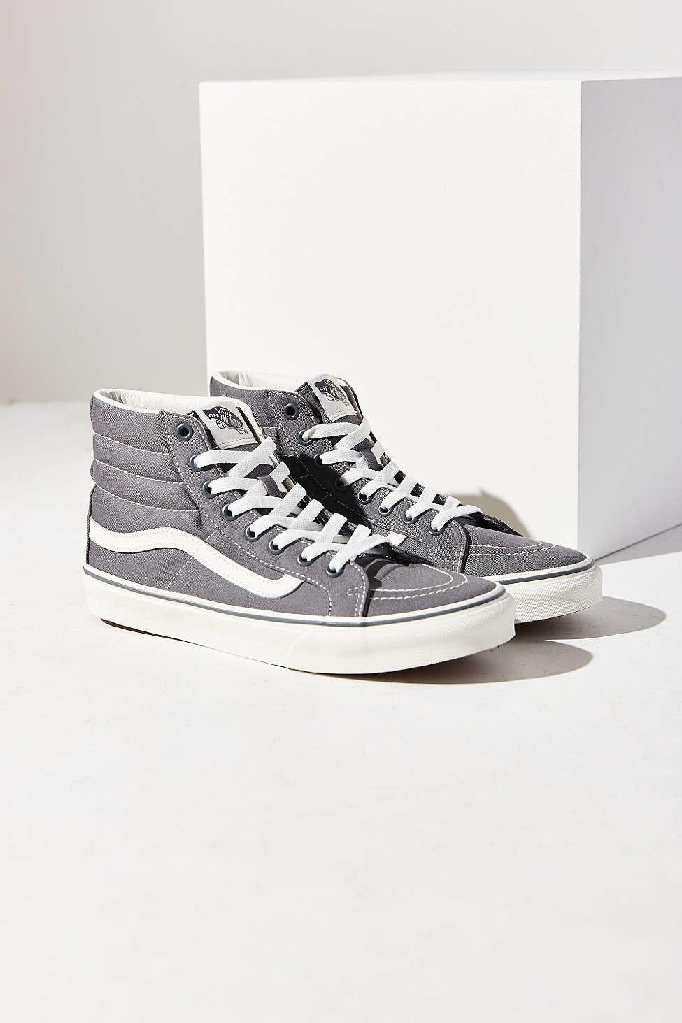 vans grey slim sk8 hi sneaker in gray lyst. Black Bedroom Furniture Sets. Home Design Ideas