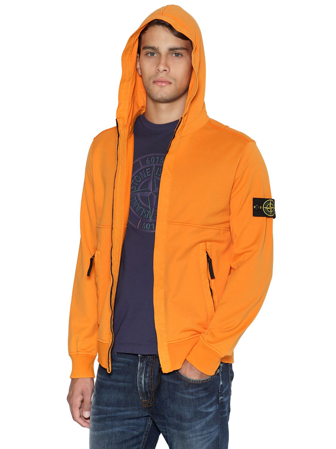 Lyst Stone Island Garment Dyed Light Fleece Zip