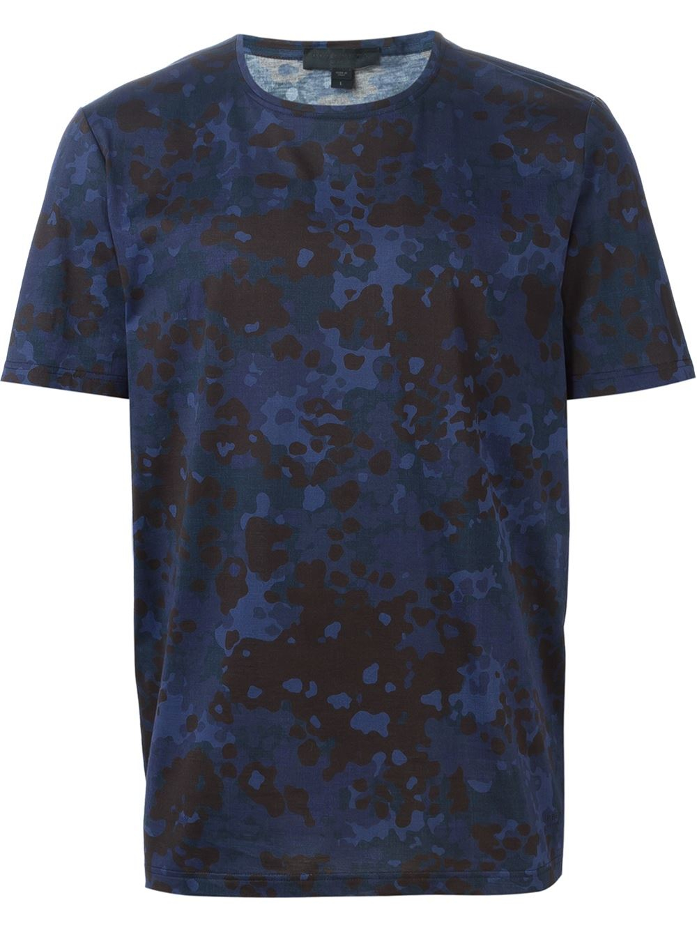Burberry prorsum camouflage print t shirt in gray for men for Camo print t shirt