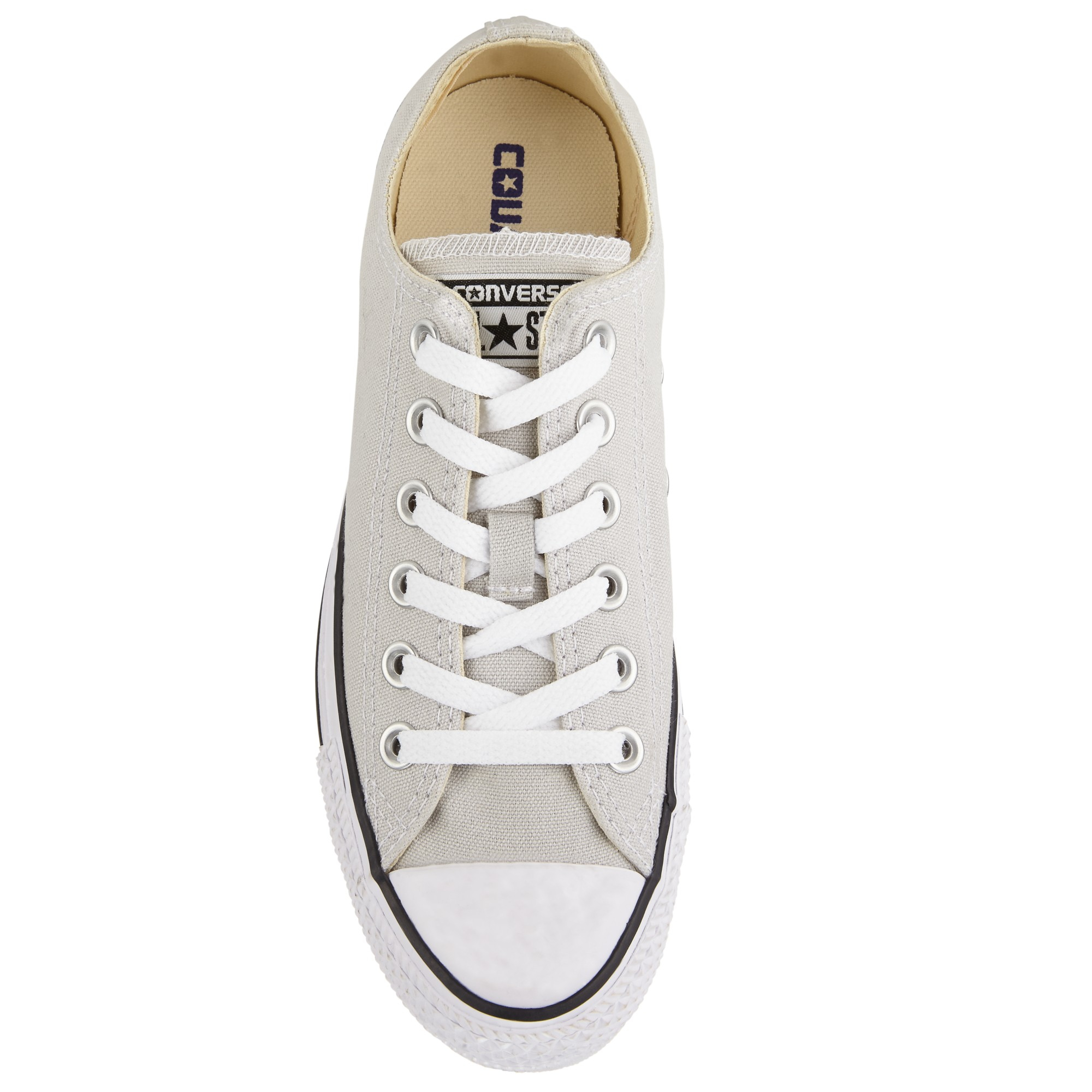 b9b483945d2b Converse Chuck Taylor All Star Canvas Ox Low-top Trainers in Gray - Lyst