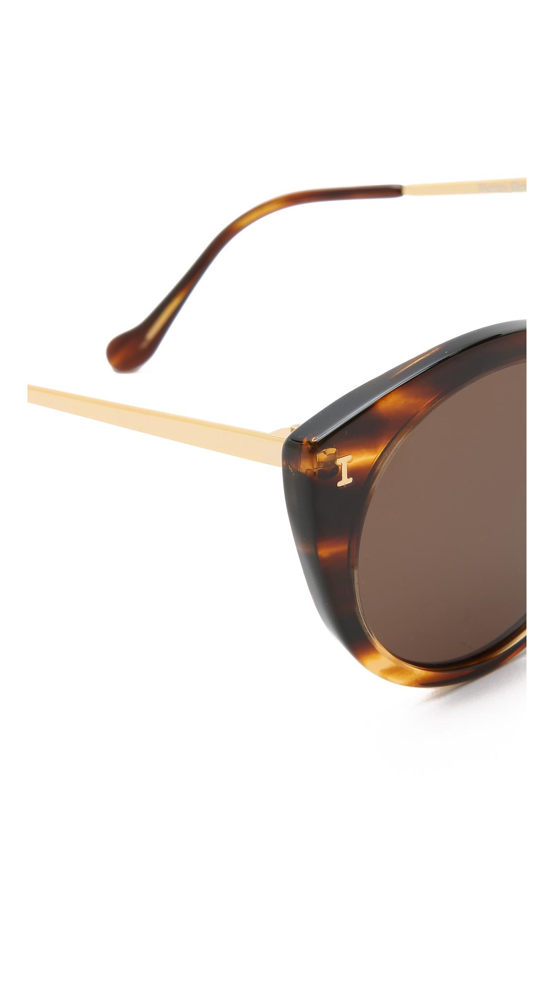 d82cb02a4f Lyst - Illesteva Palm Beach Sunglasses - Sand black in Brown