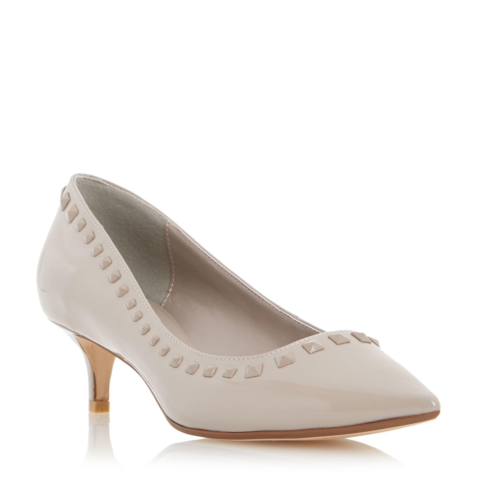 Dune Anya Pointed Toe Studded Kitten Heels | Lyst