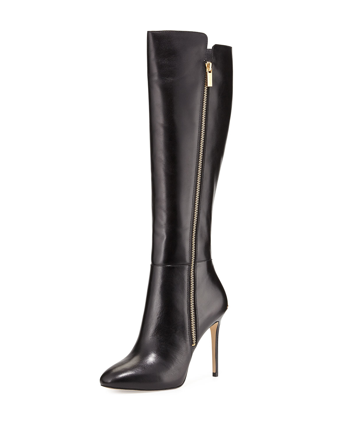 michael michael kors clara leather knee high boots in