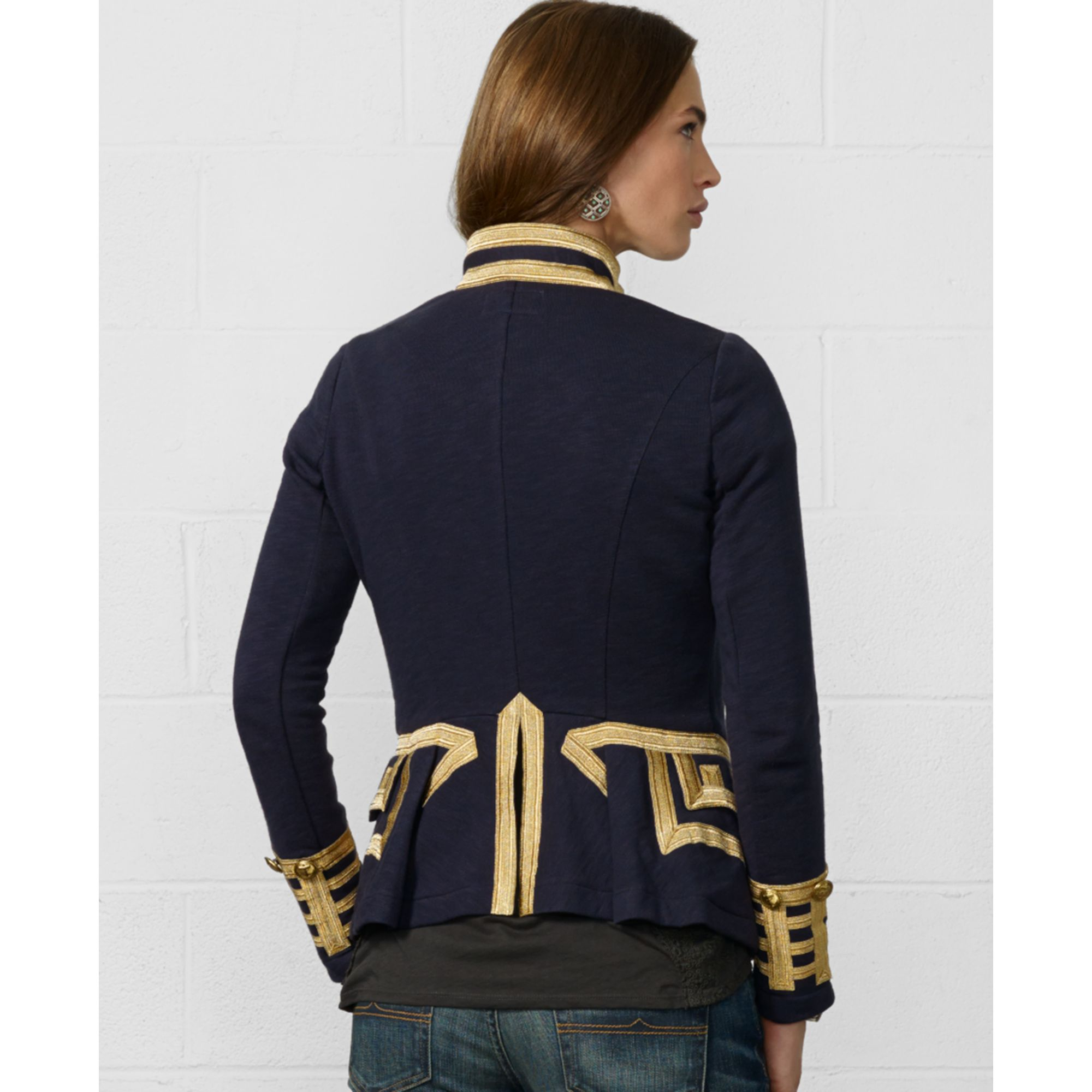 Denim Amp Supply Ralph Lauren Zip Front Braided Military
