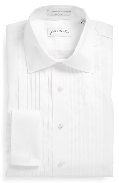 John w nordstrom john w nordstrom classic fit french for Mens dress shirts with cufflink holes