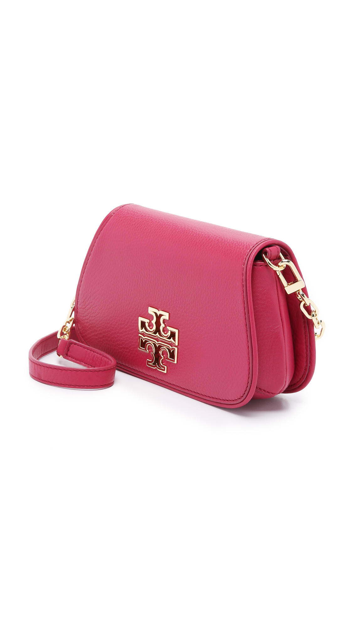 e86a551e933 Tory Burch Pink Britten Mini Cross Body Bag - Raspberry