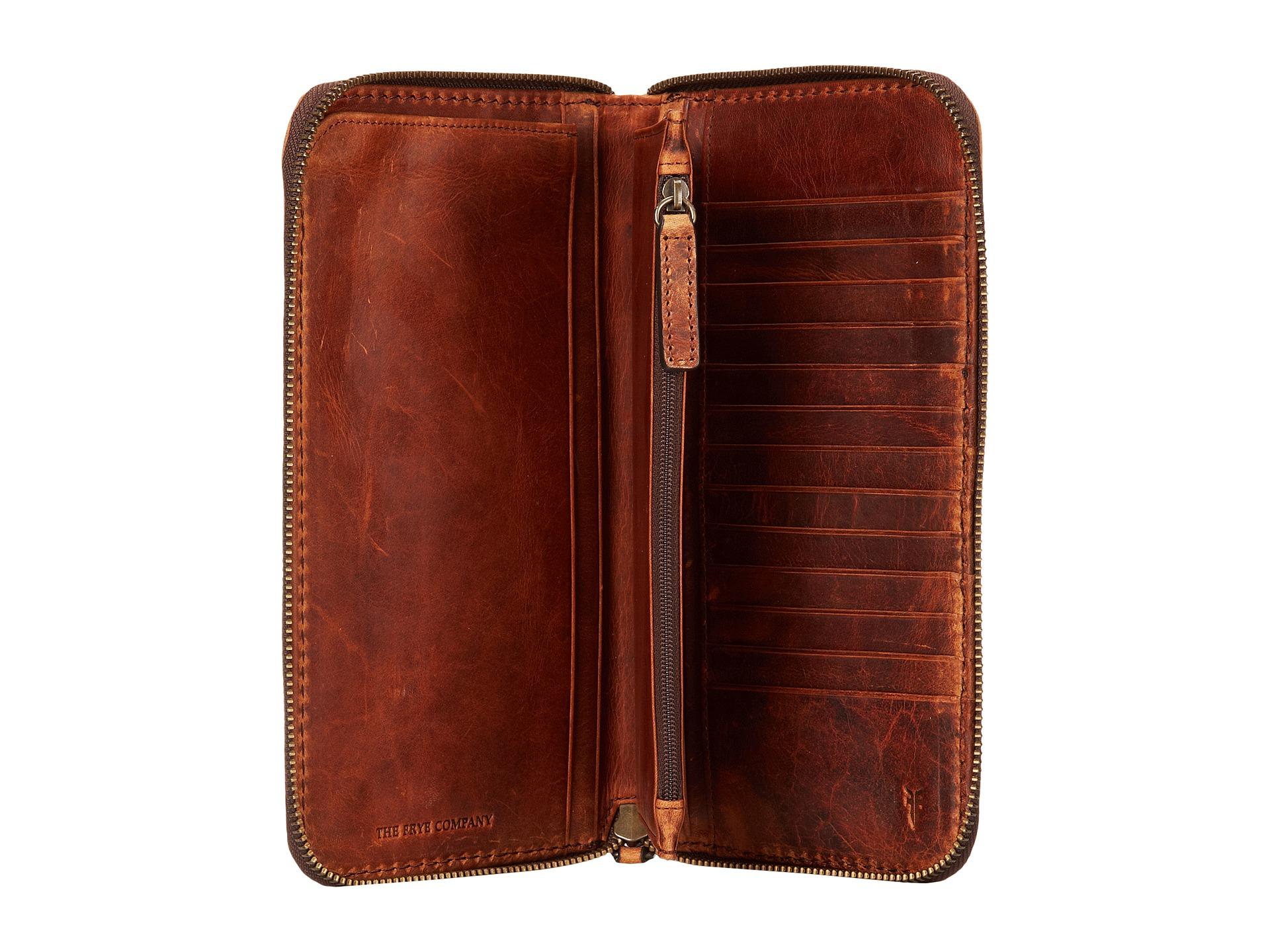 Lyst Frye Logan Travel Wallet In Brown For Men