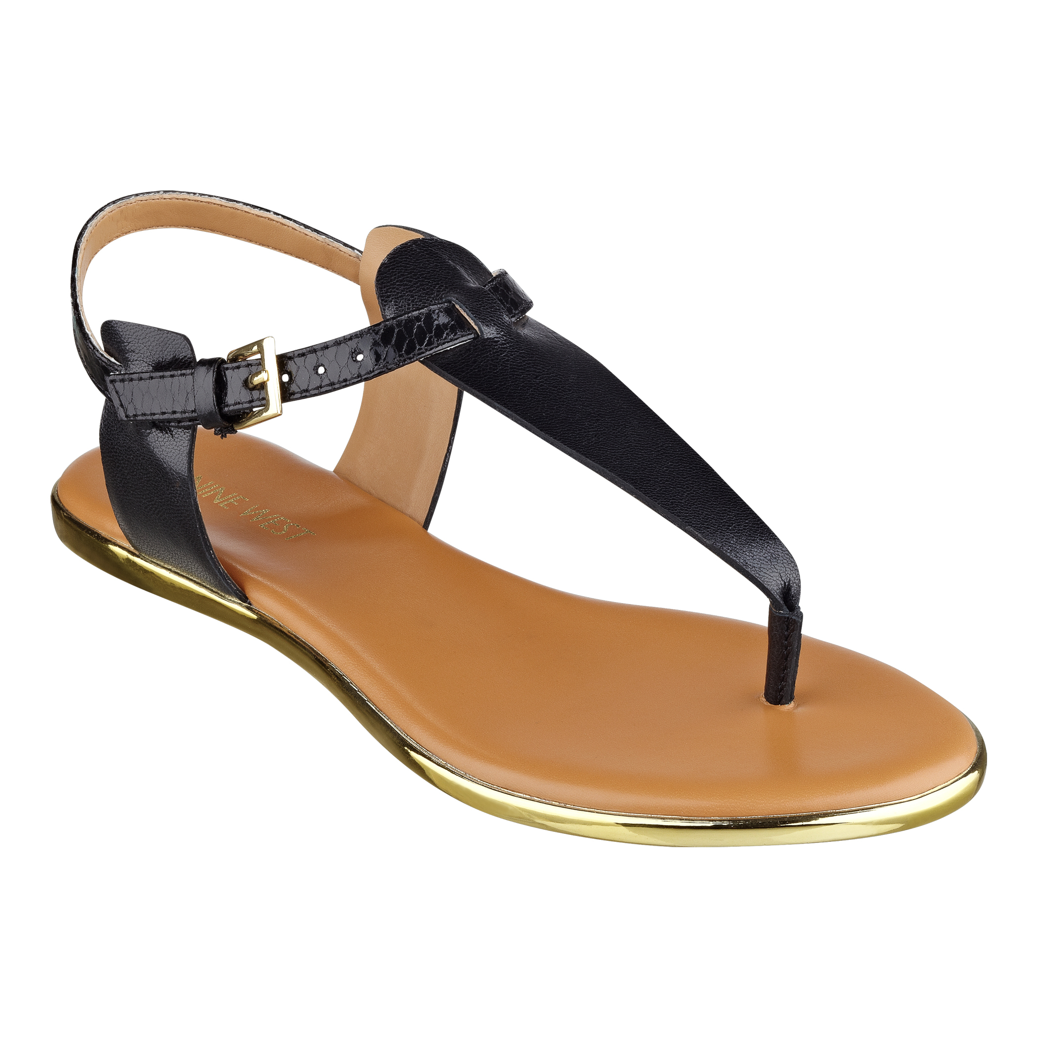 cd4709b5c4d1 Lyst - Nine West Rizzy Flat Sandals in Black