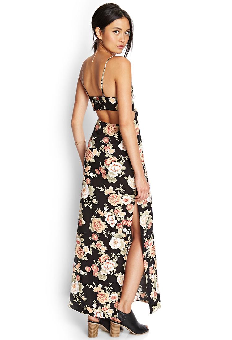 3266783606a Black Floral Maxi Dress Forever 21