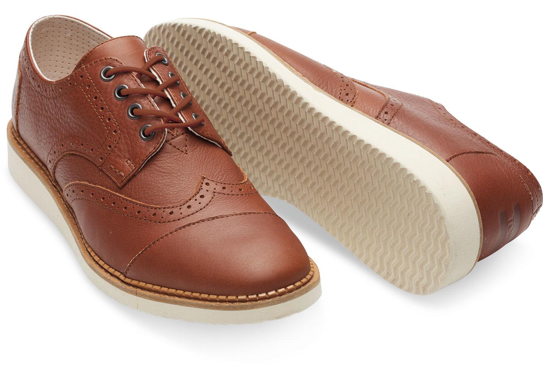 TOMS Brown Full Grain Leather Men's