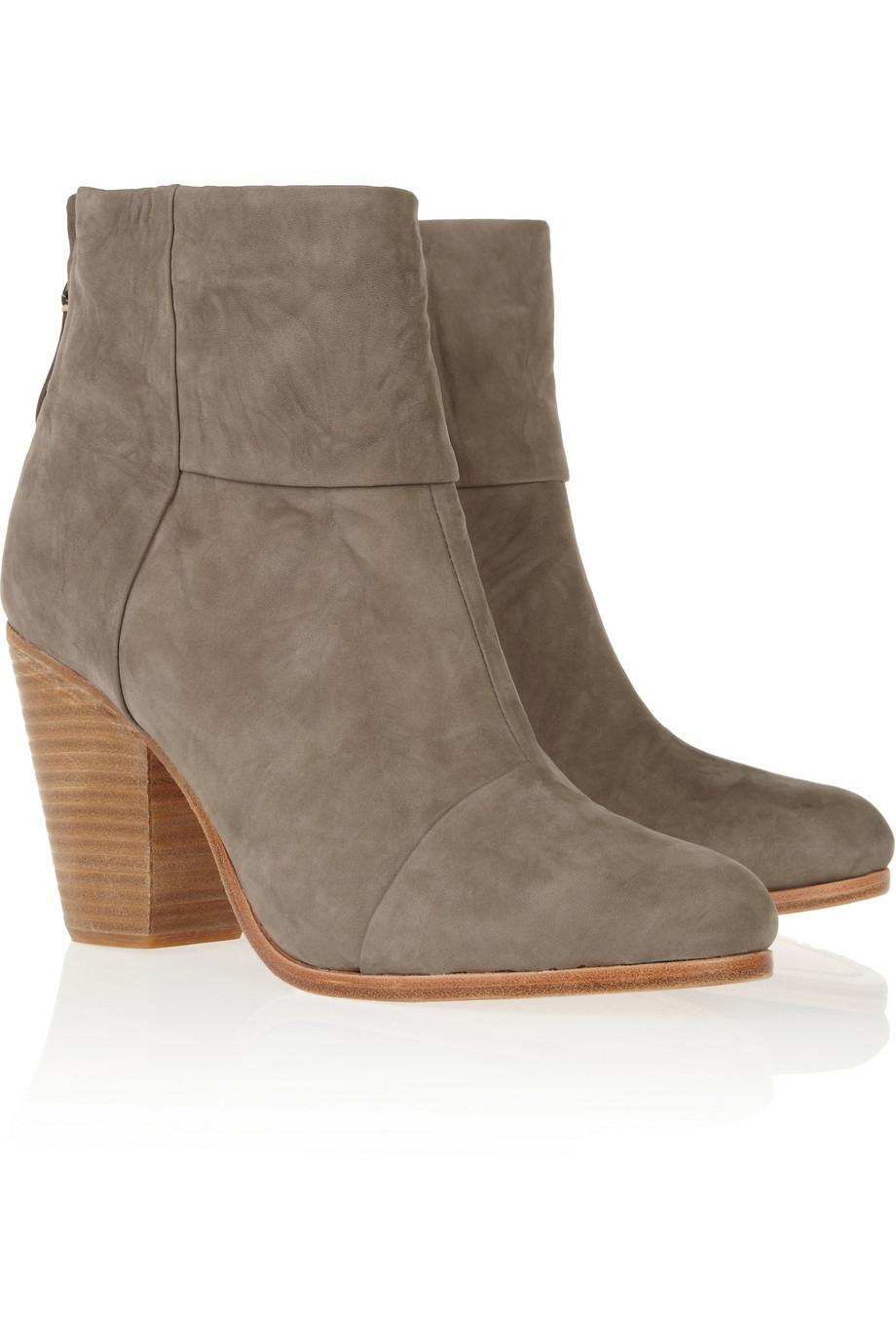 rag bone classic newbury nubuck ankle boots in gray lyst