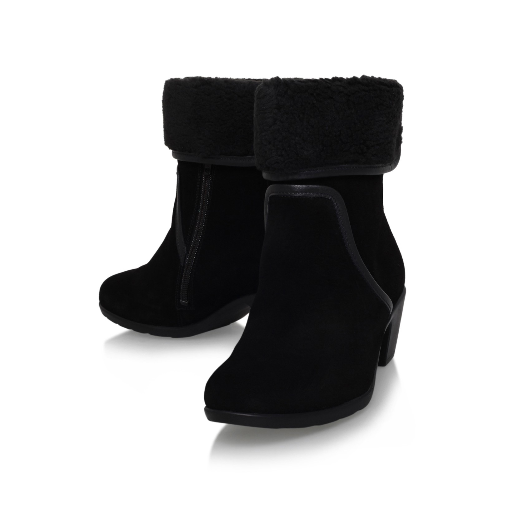Carvela Kurt Geiger Leather Robin Boots With Ankle Cuff in Black