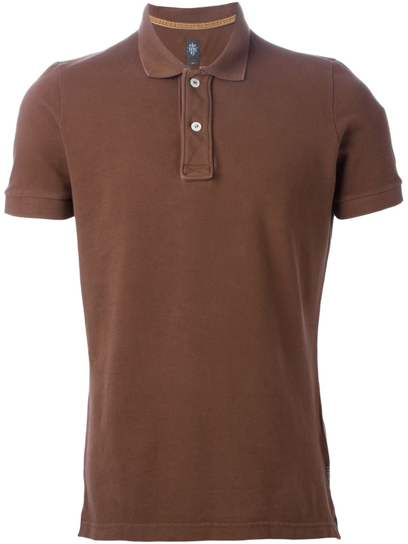 Lyst Eleventy Classic Polo Shirt In Brown For Men