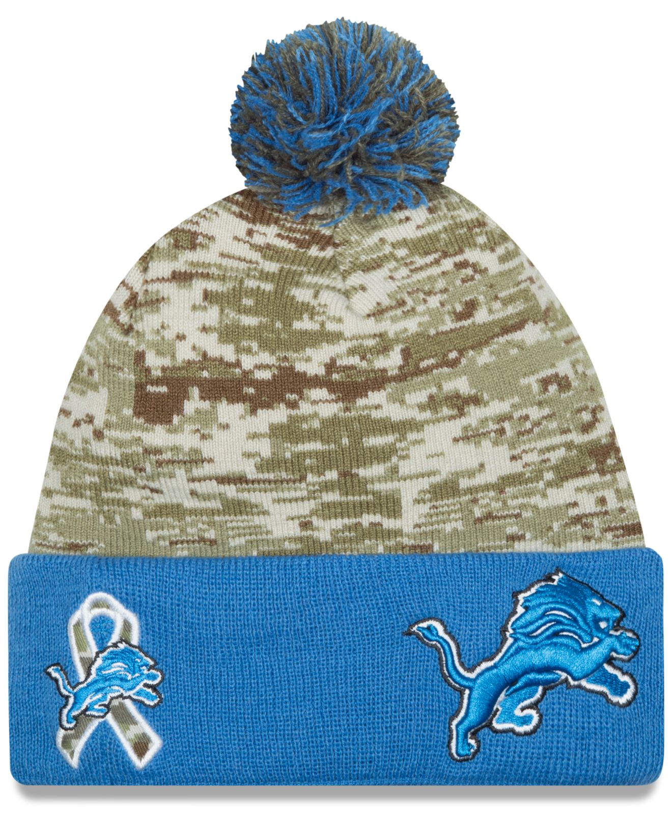 quality design b5e4a 254f2 ... usa lyst ktz detroit lions salute to service knit hat in green a6897  f78bf