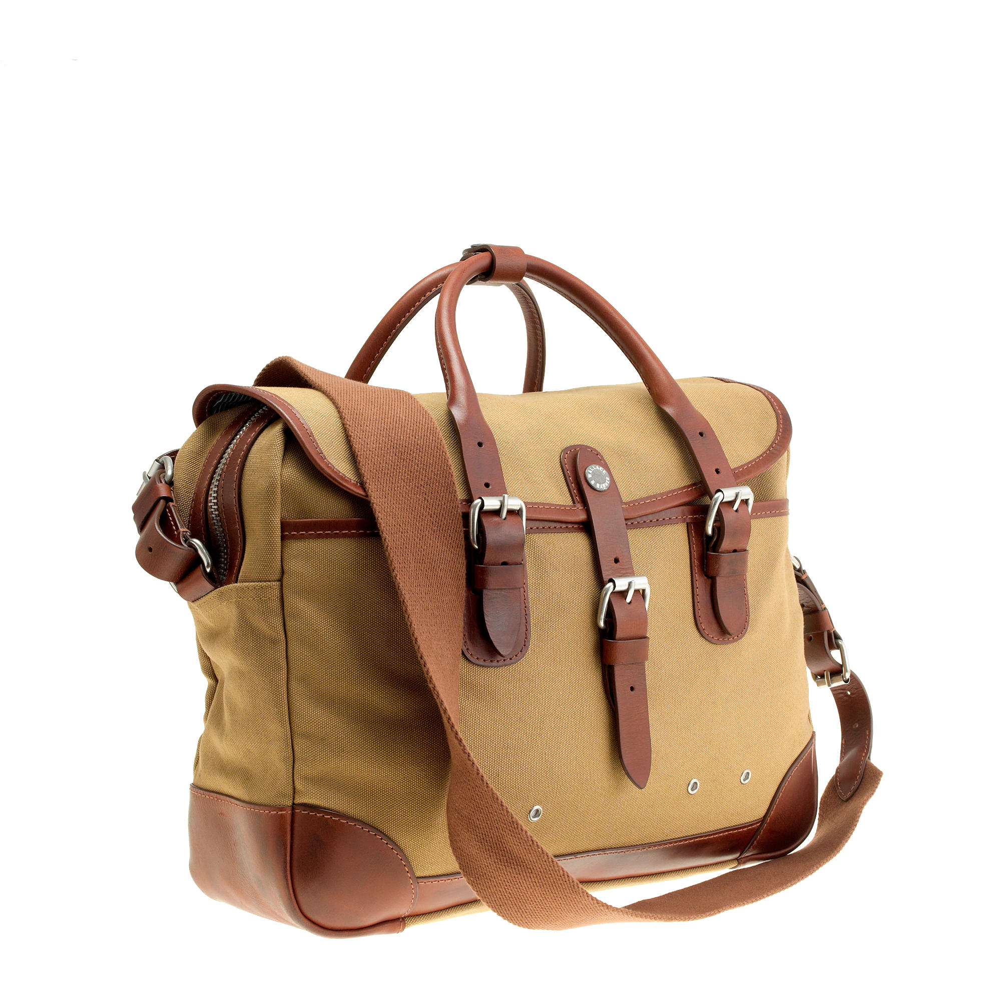 j crew wallace barnes laptop bag in brown for lyst