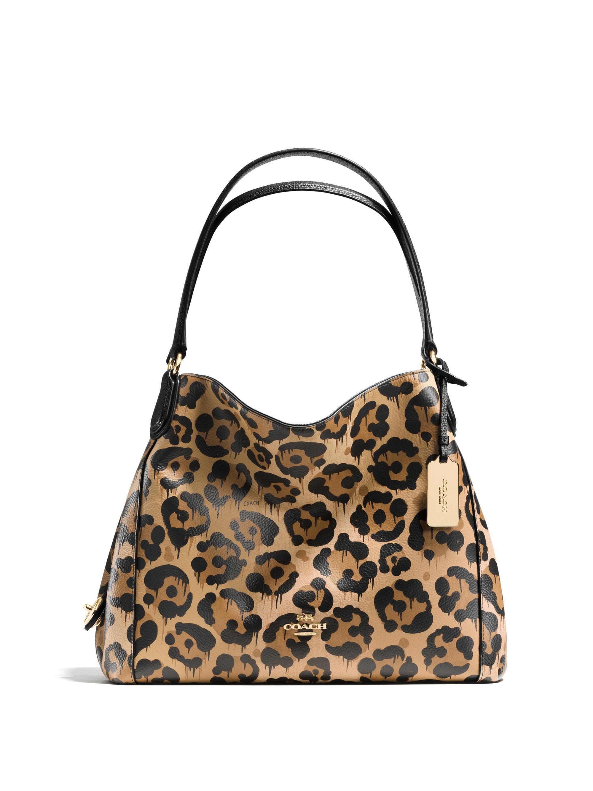 c45a527b8 new zealand purple leopard print coach purse lyst coach turnlock leather tote  bag d9cd2 c7068; closeout lyst coach turnlock leather tote bag 97e80 7b007