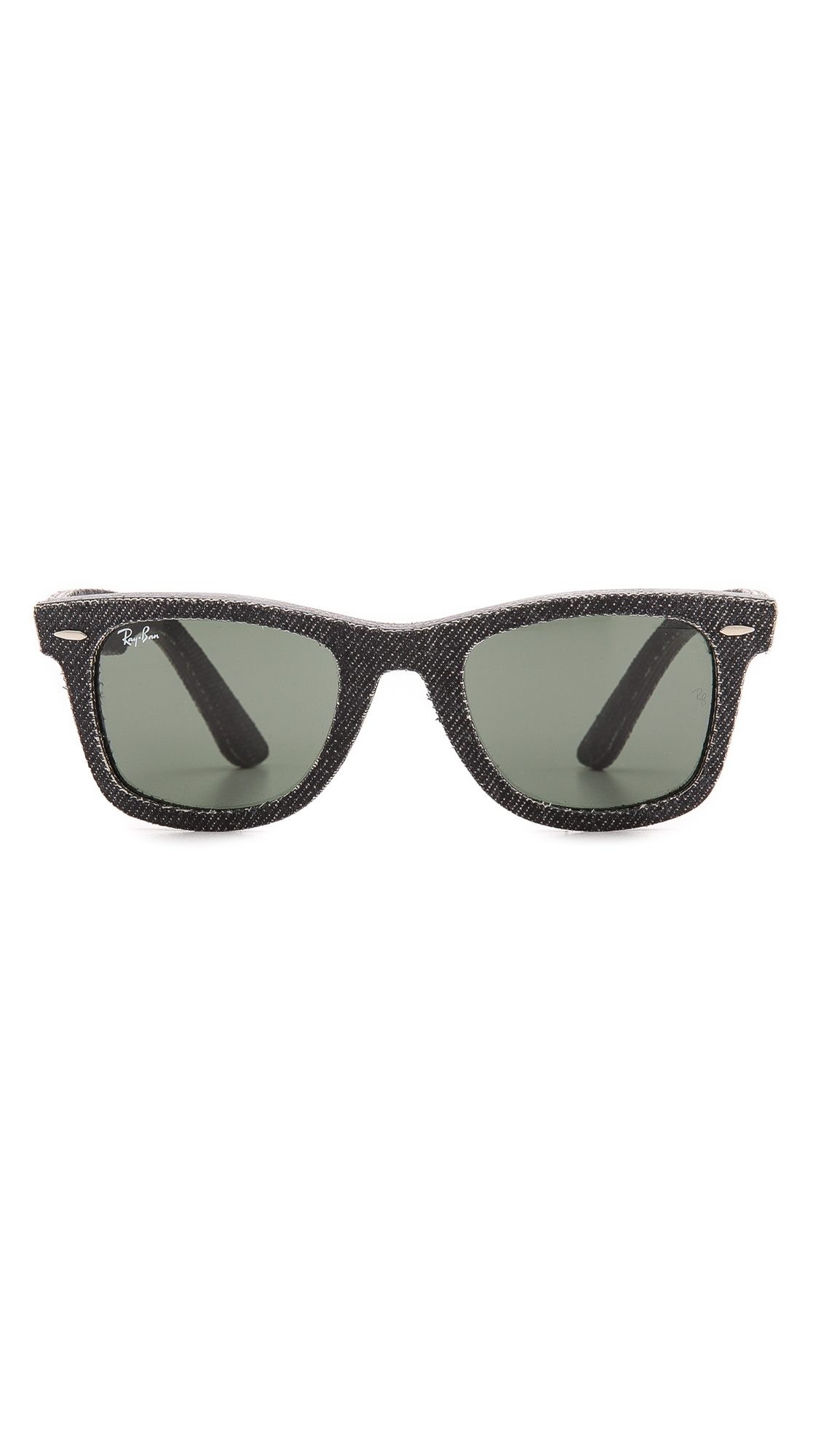 c64423e2d9 Ray-ban Pressed Denim Wayfarer Sunglasses in Black for Men