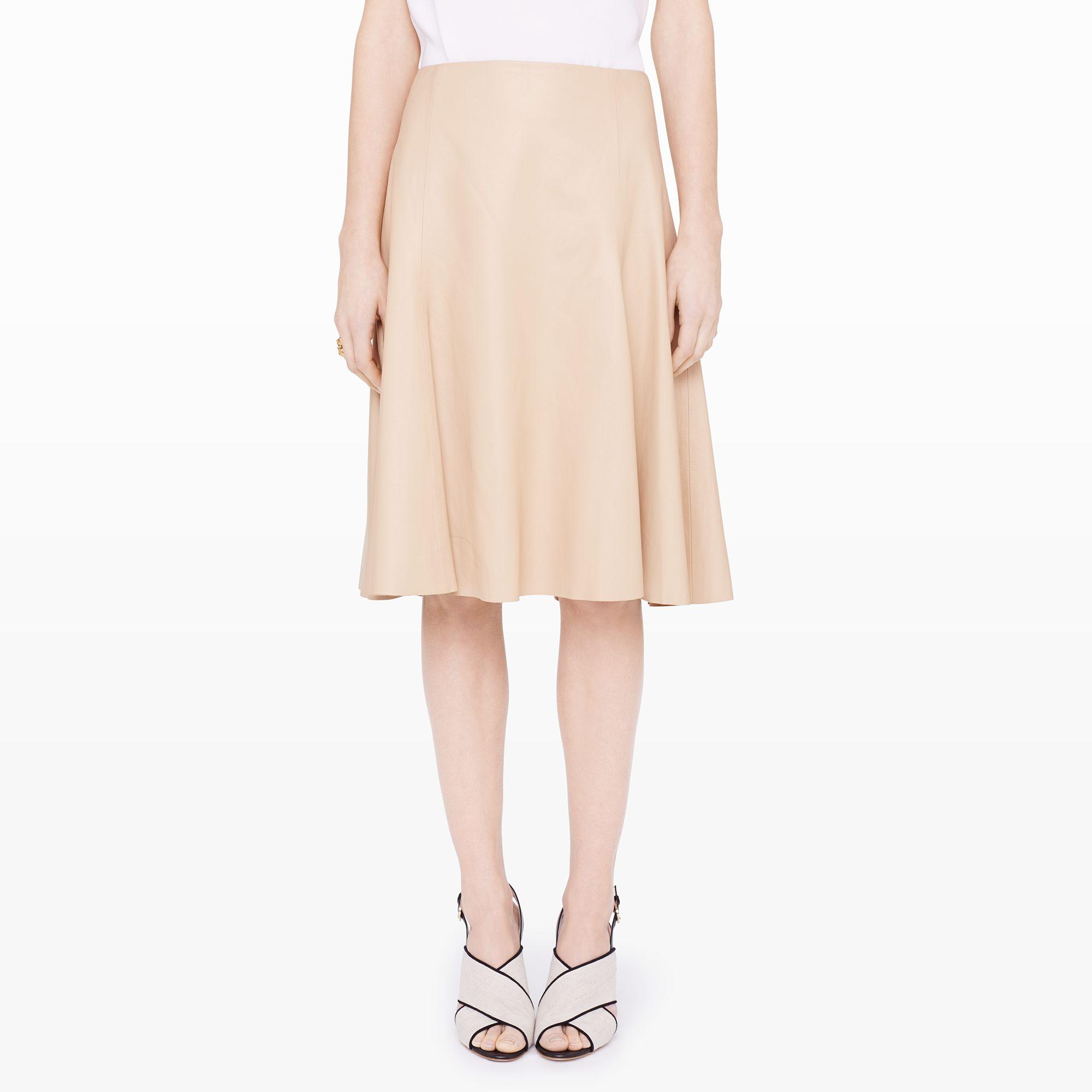 club monaco joaquina leather skirt in lyst