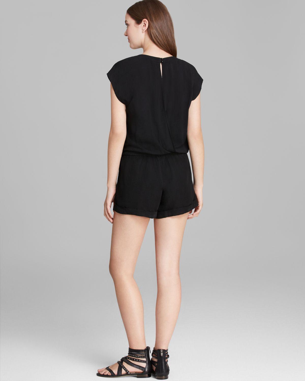 Lyst - Splendid Romper Short Sleeve in Black