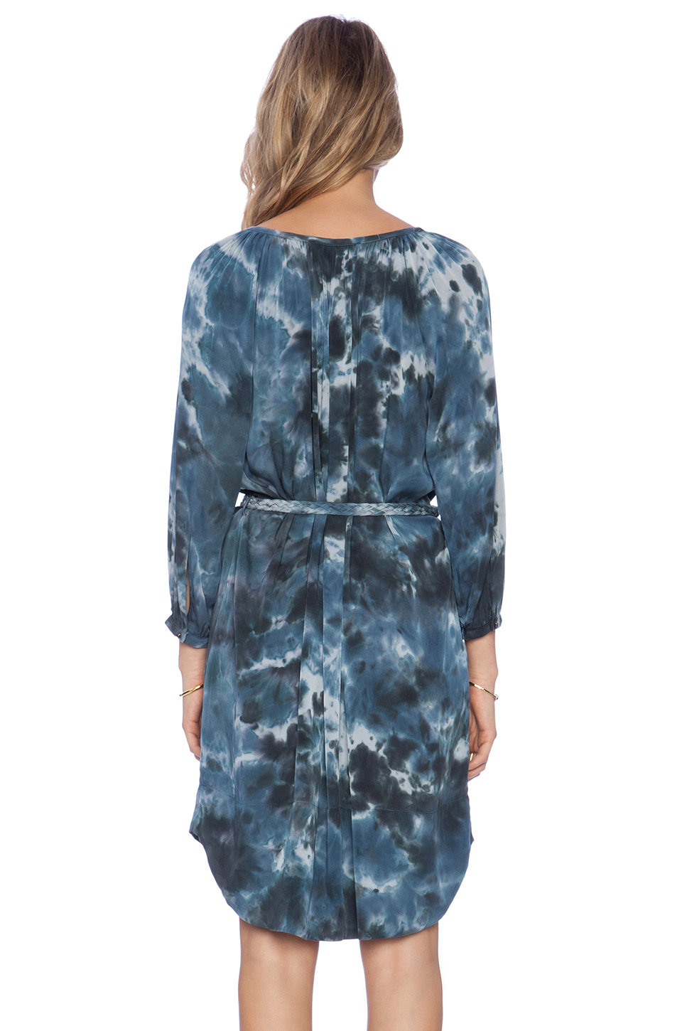 bcd6f124cd099b Lyst - Gypsy 05 Silk Tunic Dress in Blue