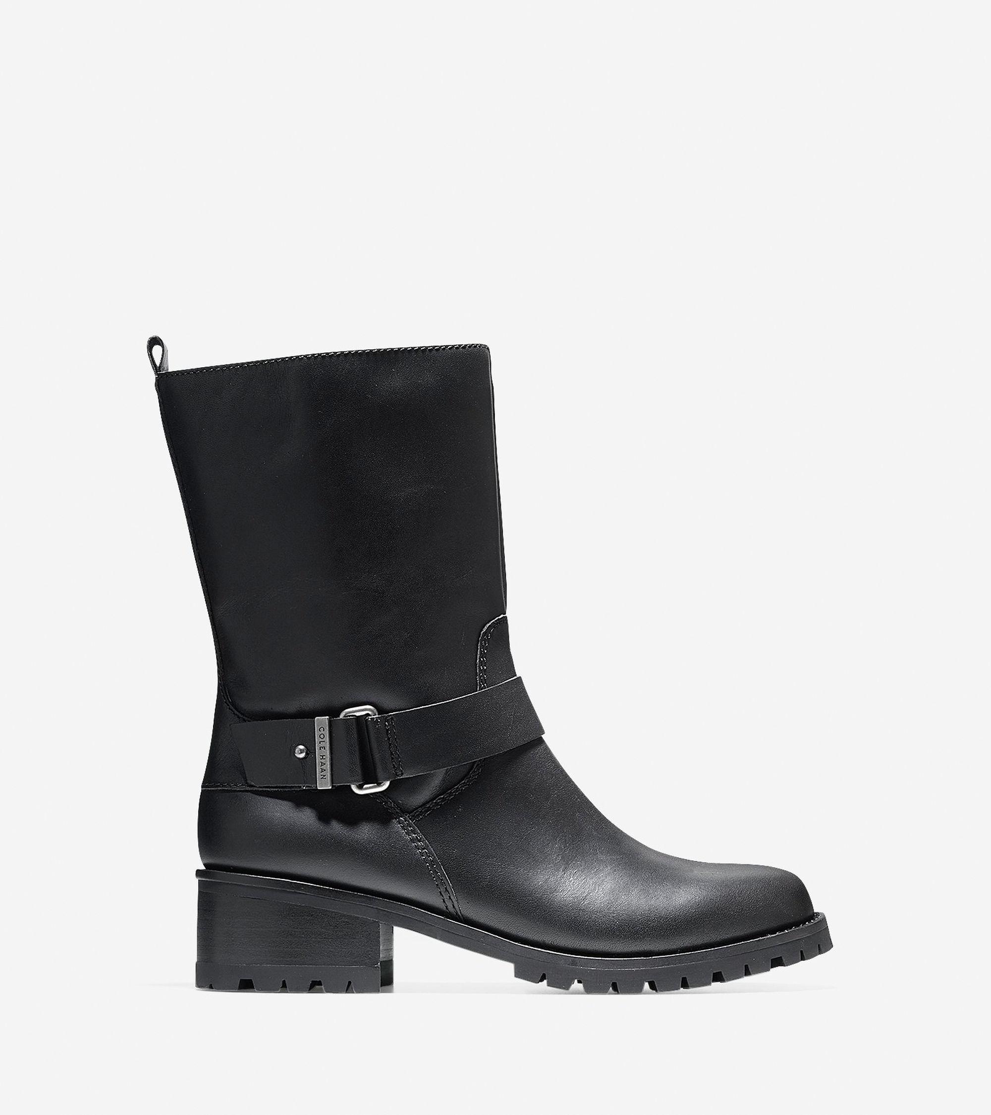 cole haan chlain waterproof boot 40mm in black lyst