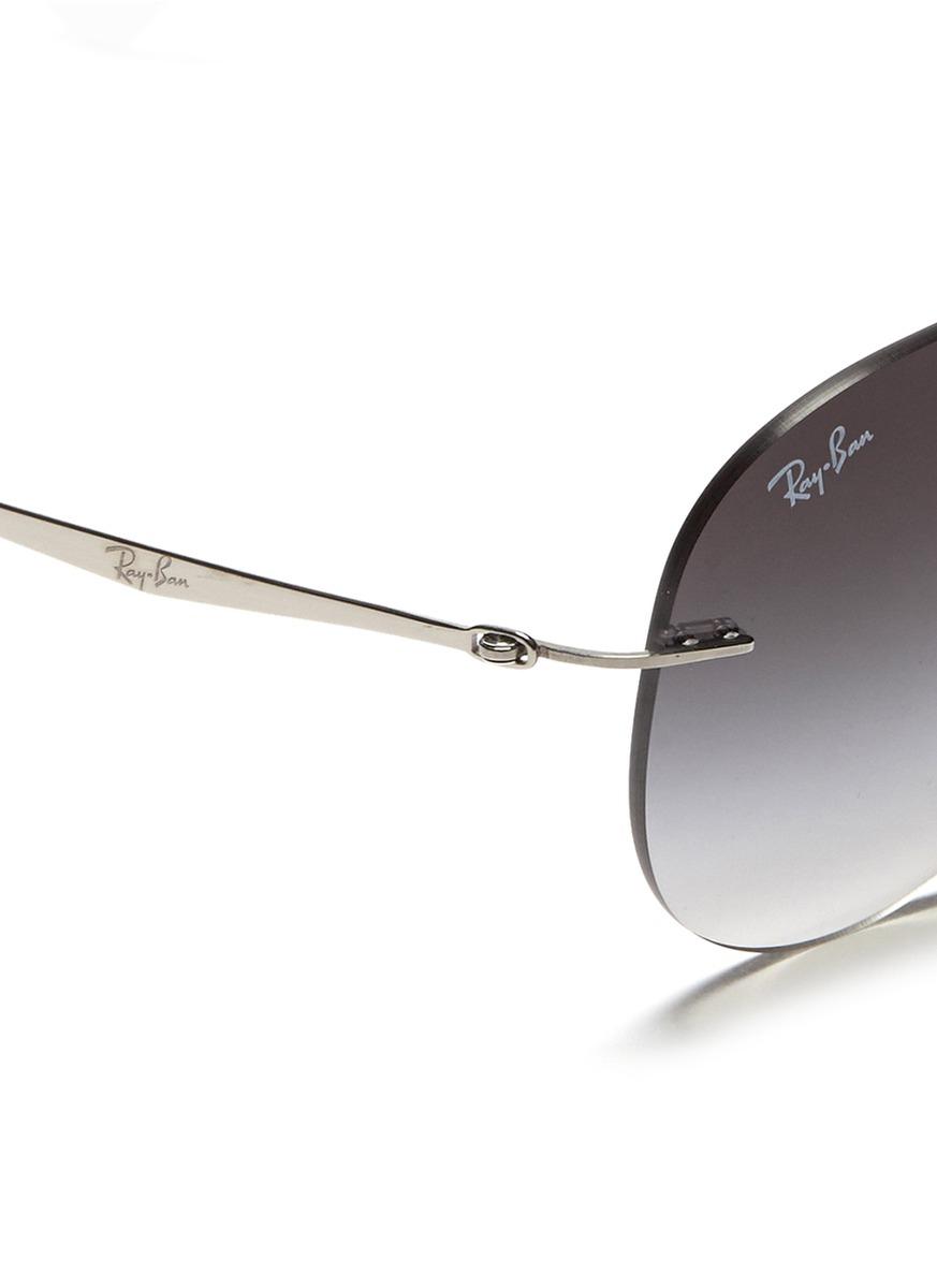 ray ban polarized aviator sunglasses l6et  ray ban rimless aviator polarized