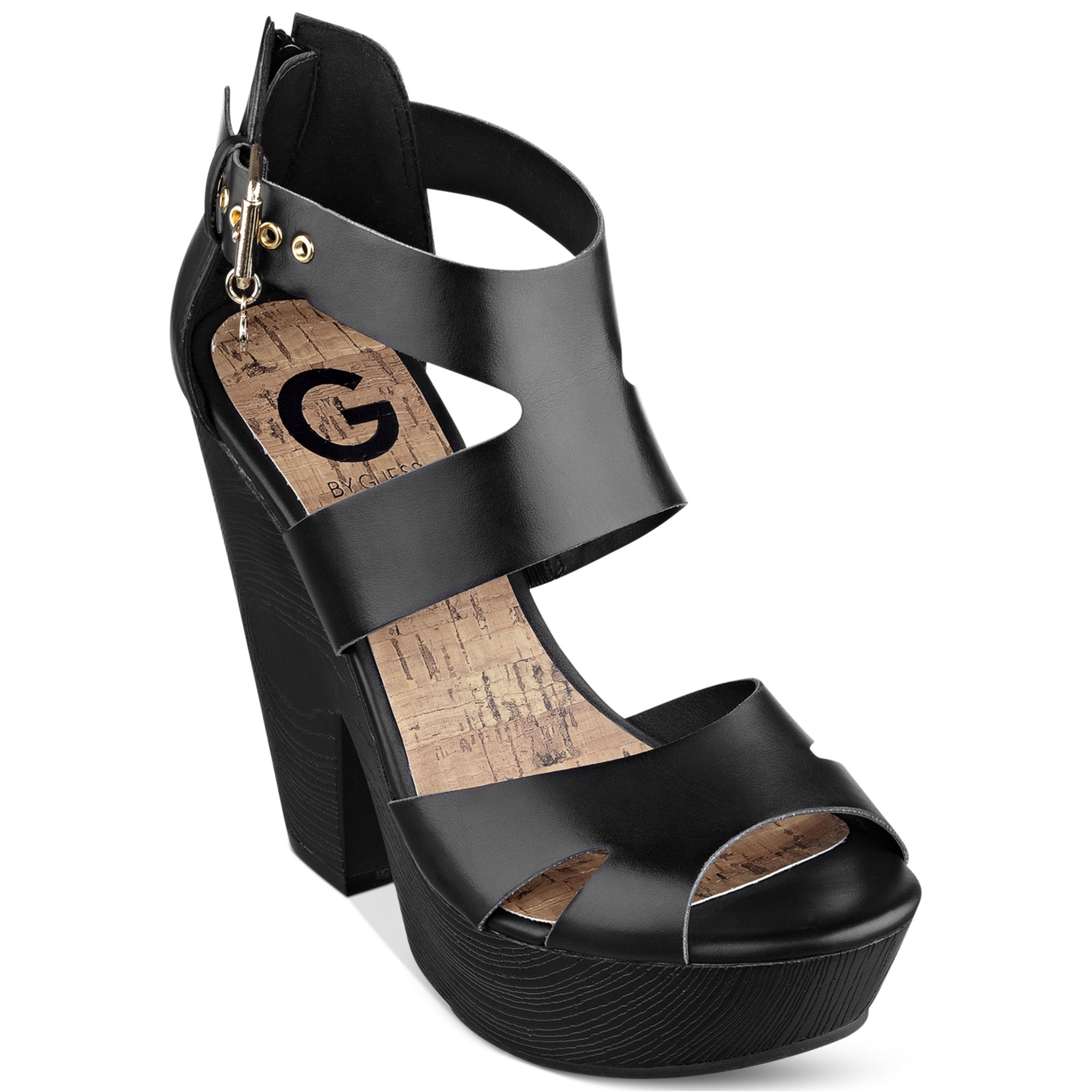 G By Guess Womens Sylbie Platform Sandals In Black Lyst