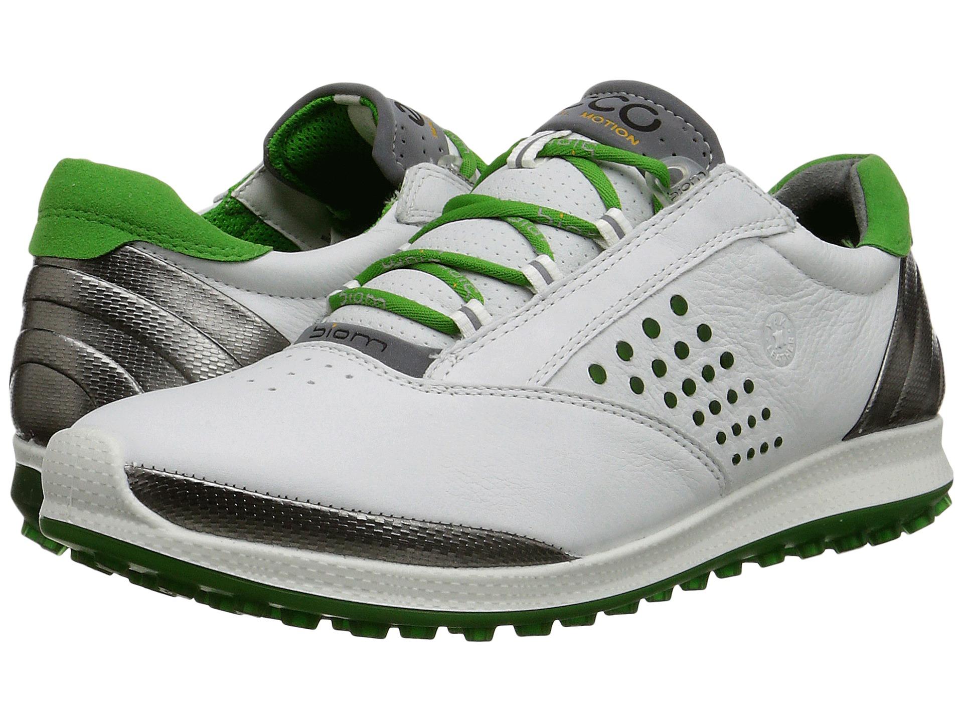 Ecco Biom Hybrid Golf Shoes White Green