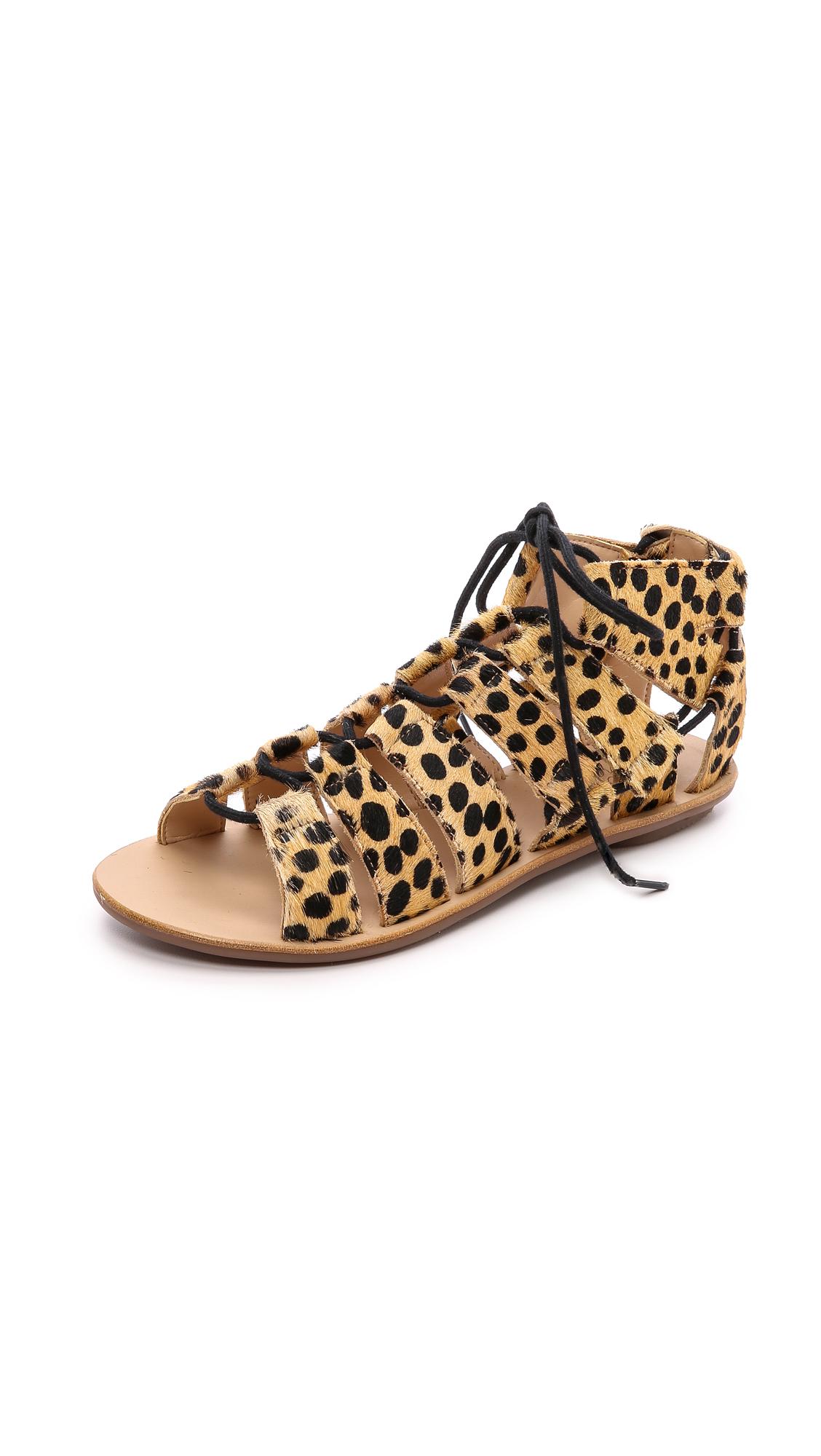 Loeffler Randall Skye Gladiator Sandals Cheetah Lyst
