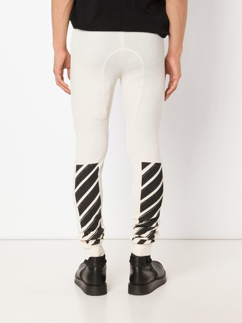 80ea29cd08c7e Off-White c/o Virgil Abloh Waffle Leggings in White for Men - Lyst