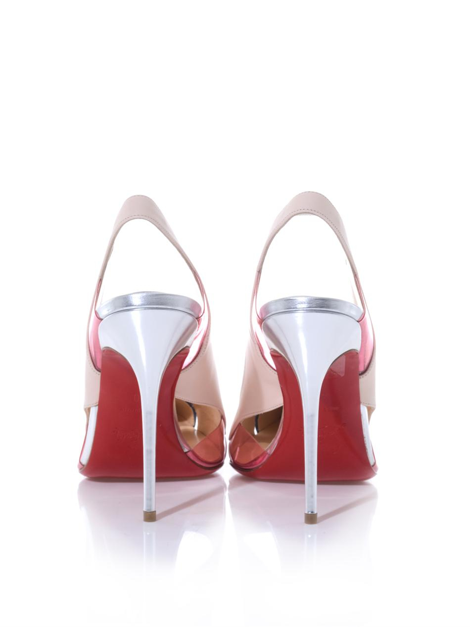 Christian louboutin Air Chance 100mm Slingback Pumps in Pink | Lyst