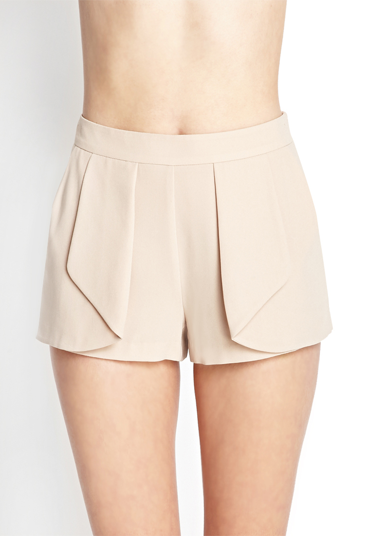 Forever 21 Soft Woven Origami Shorts in Natural - Lyst - photo#12