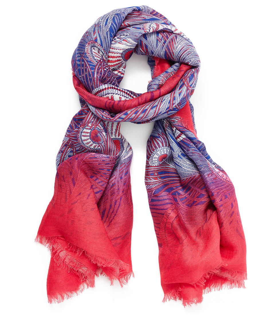 liberty pink hera silk scarf in pink lyst