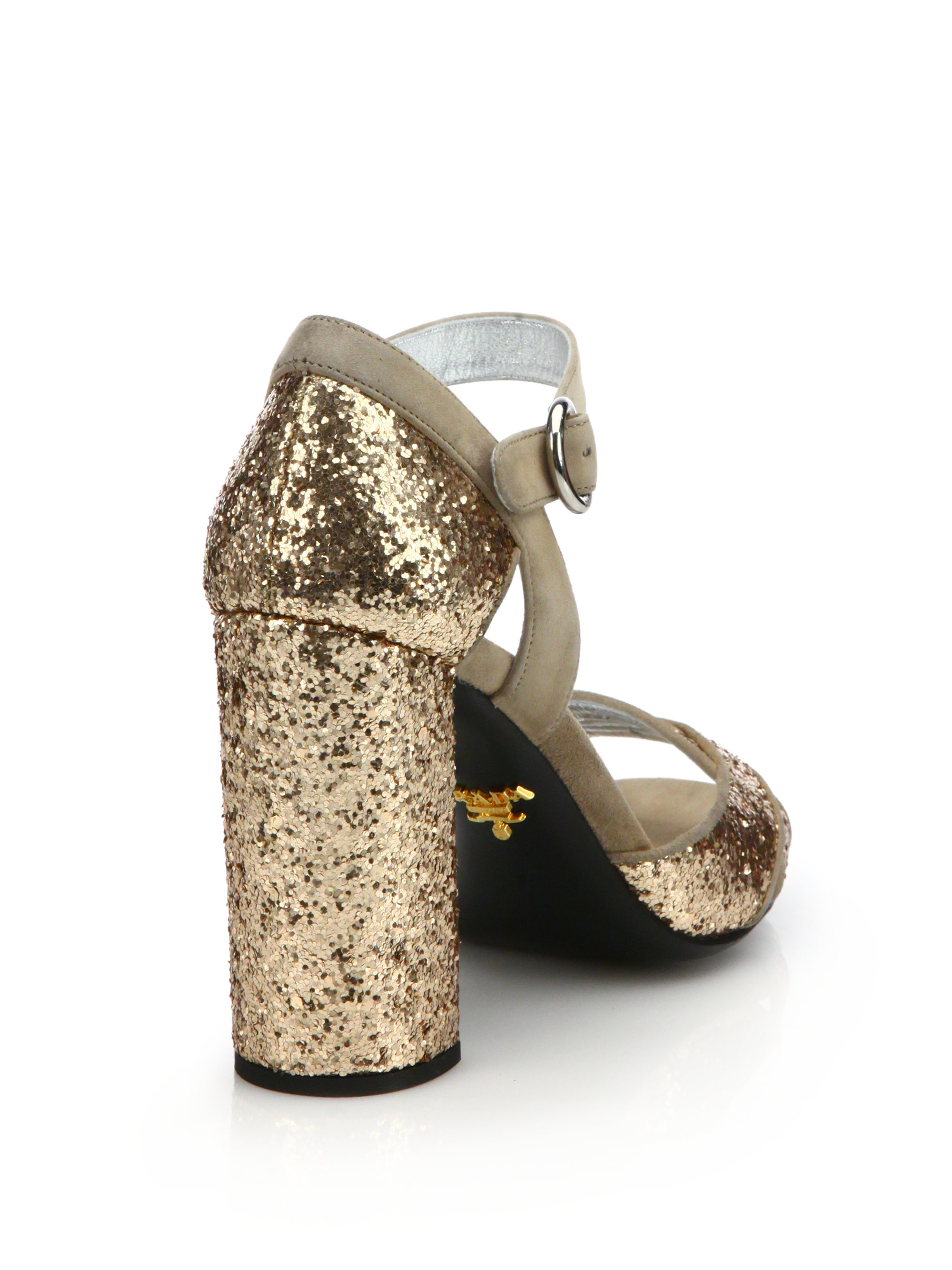 Prada Glitter Sandals Free Shipping New Buy Cheap From China Cheap Sale Websites Outlet Cheap Outlet Locations ollGJwT