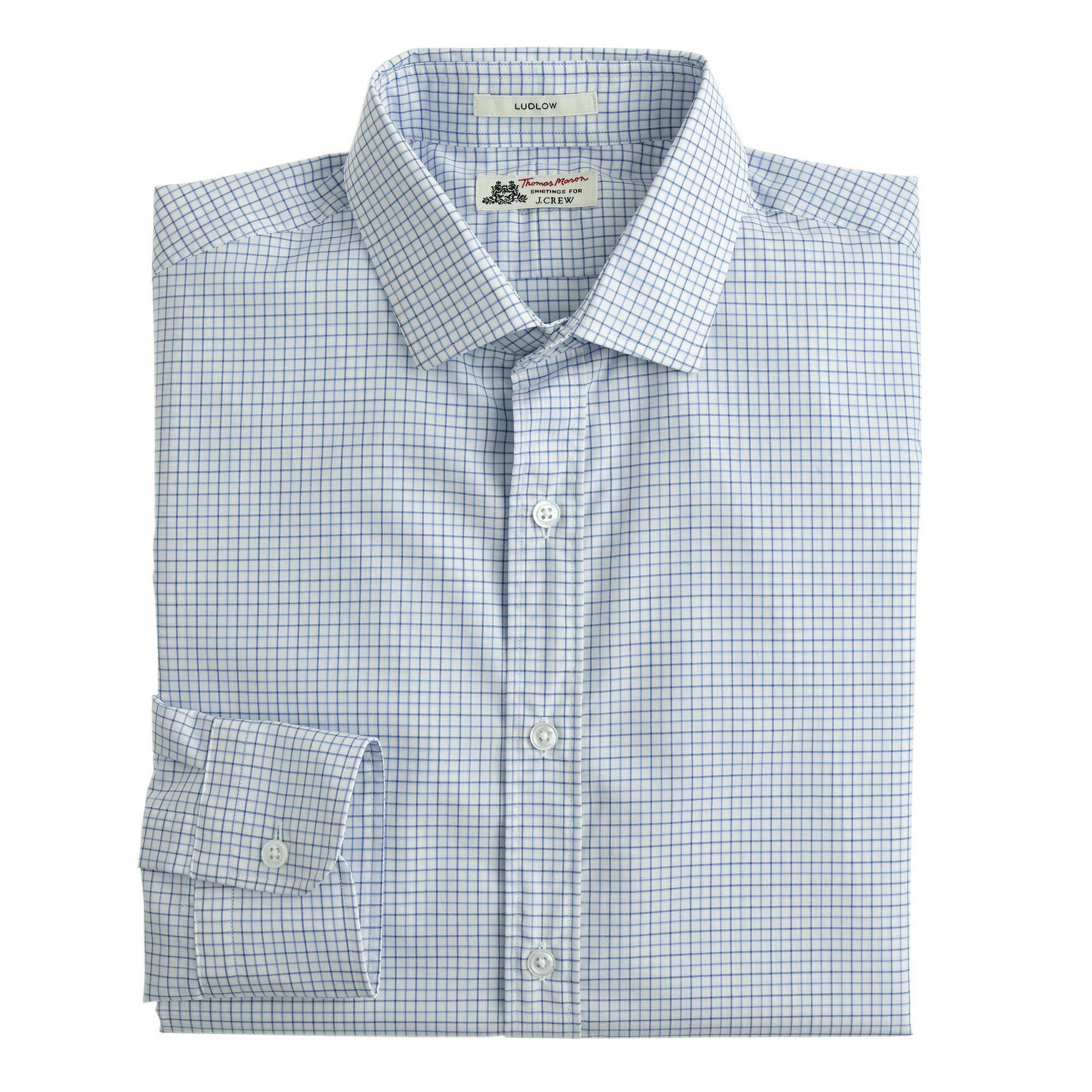 Thomas mason ludlow shirt in fresh pond tattersall for Mason s men s shirts