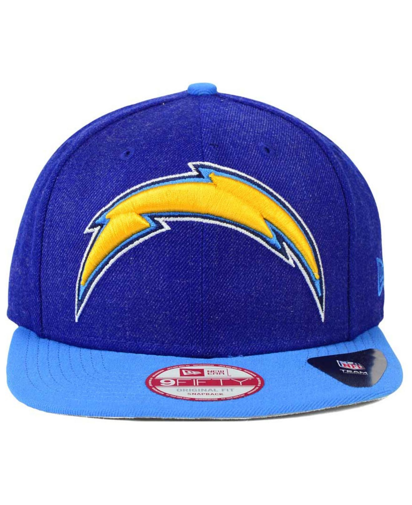 b3d30fb2d KTZ San Diego Chargers Logo Grand 9fifty Snapback Cap in Blue for ...