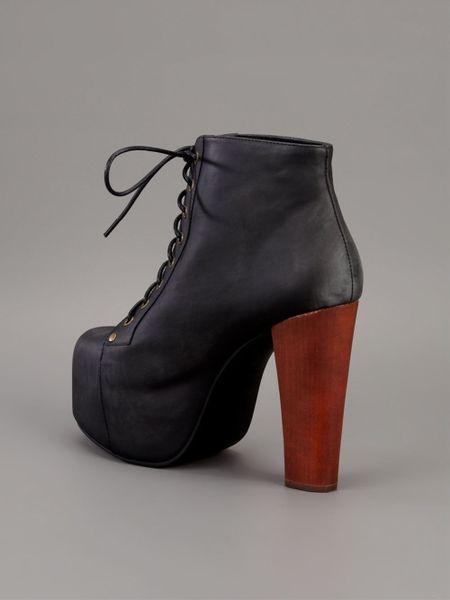 jeffrey campbell lita platform ankle boot in black lyst. Black Bedroom Furniture Sets. Home Design Ideas