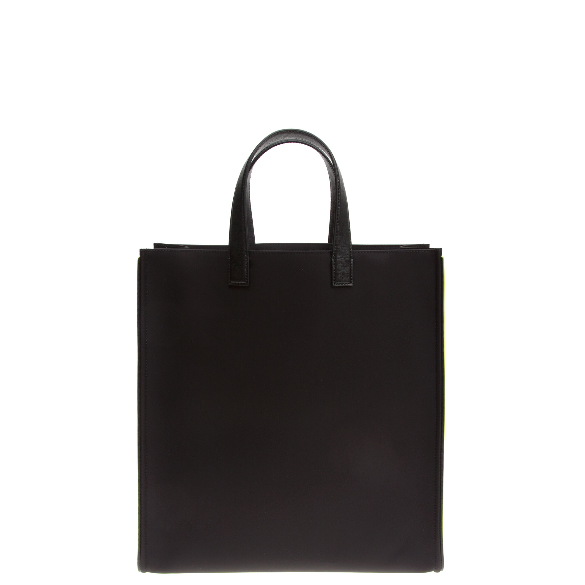 Fendi Leather Id-ea Tote Bag in Black for Men