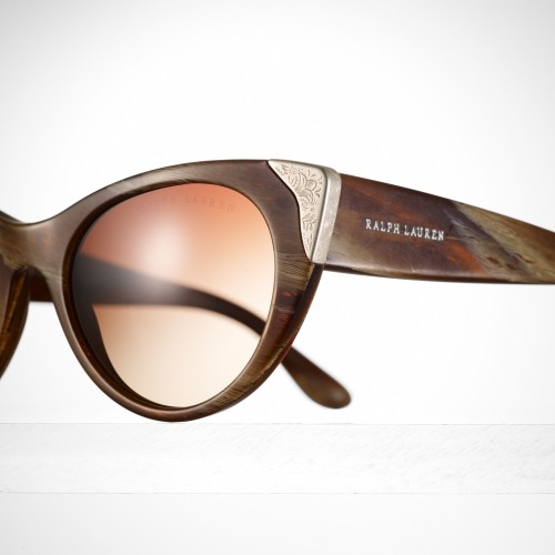 e831b0fb85747 Ralph Lauren Western Cat Eye Sunglasses in Brown - Lyst